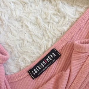 Fashion Nova Dresses - Fashion nova ribbed pink dress